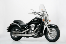 Falcon Double Groove Komplettanlg. / ohne KAT / VA poliert / Kawasaki VN 900 + Classic / ABE