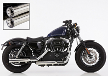 ANGEBOT: Falcon Double Groove Slip On / VA poliert / HD Sportster XL 883/1200 / 06-13 / ABE