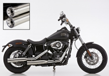 ANGEBOT: Falcon Double Groove Slip on / VA poliert / HD Dyna Street Bob / ab 2006 / ABE