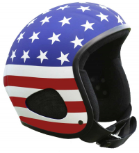 "GE CHOPPERHELM ""Titan US-FLAG"" / US-Design / superleicht + bequem"