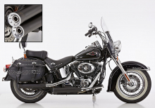 FALCON Double Groove / SlipOn / black / Harley Softail / ab 2006 / ABE