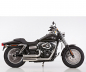 Mobile Preview: Falcon Double Groove Komplettanlg. / KAT / silber poliert / HD Dyna Fat Bob / ab 2008 / ABE
