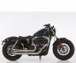 Preview: Euro4: FALCON Double Groove / HD Sportster XL 883/1200 /  Komplettanlg. / poliert / ab 2017 / ABE