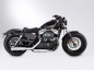Preview: MILLER 2-2 Harley Sportster XL 1200 Forty Eight 48 / EURO 4 / SlipOn Anlage / silber / SILVERADO III / ab 2017 / ABE