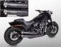 Mobile Preview: MILLER 2-2 / BRONCO / black / EURO4 / Harley Softail MW8-Modelle ST1 / Komplettanlage / ABE
