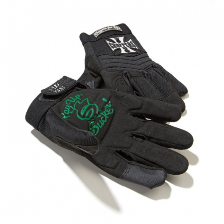 WEST COAST CHOPPERS / Riding Gloves / Handschuhe / Black / Größe XL