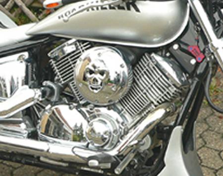 Lenkeruhr mit Halter f/ür Yamaha XVS 1100 A Drag Star Classic LK1 schwarz