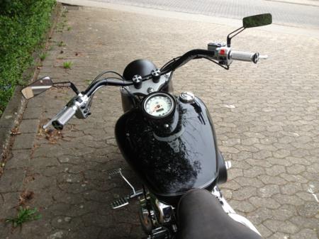 GZM Lenker Apehanger Bad hoch schwarz 1 Zoll Universal f/ür Motorrad Harley Custom Bobber Chopper 25 mm