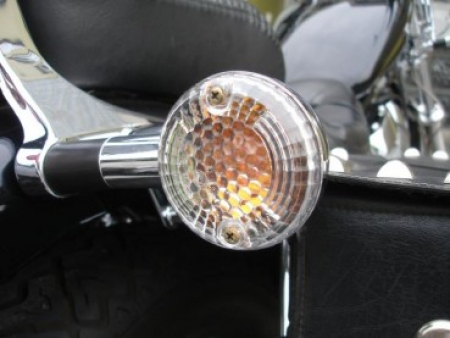 BR White-CUSTOM Blinker White - Klar / 1 Paar / Suzuki VL 800 Volusia / 01 - 05 / E-Zeichen