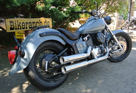 Vorführer: FALCON DOUBLE GROOVE / YAMAHA XVS 650 + Classic / Komplerttanlg. / ABE