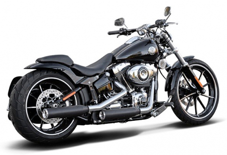Vorführer: MILLER 2-2 SlipOn / Harley Softail Breakout / CVO / SlipOn schwarz / ARIZONA / EG-BE