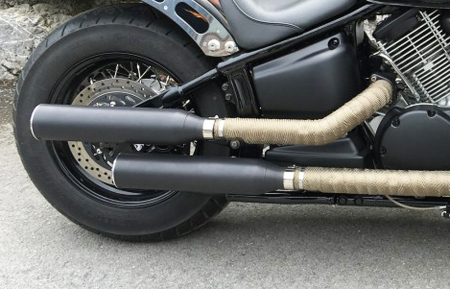 Vorführer: MILLER 2-2 SlipOn Auspuff Arizona / schwarz / Harley Softail - Night Train / EG-BE