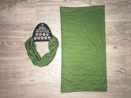 BR Multifunktionstuch - Military green / 9 in 1 / einfarbig
