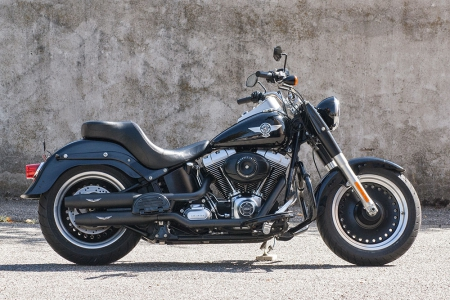 PENZL V2-Speed Auspuff elek. verstellb. / cera.  black / Harley Fat Boy / 2018 / EG-BE