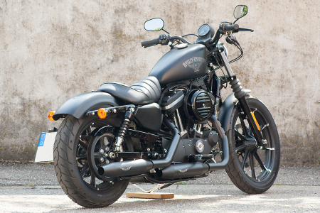PENZL V2-Speed Auspuff elek. verstellb. / black ceramic / Harley Sportster  / 2004 - 2016 / EG-BE