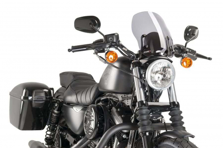 Windshield Naked / rauchgrau / New / Touring / HD SPORTSTER XL 883 / 2009 - 2019