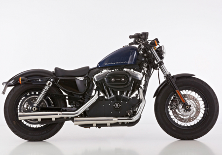 Euro4: FALCON Double Groove / EURO 4 / Slip On / poliert / HD Sportster XL 1200 / ab 2017 / ABE
