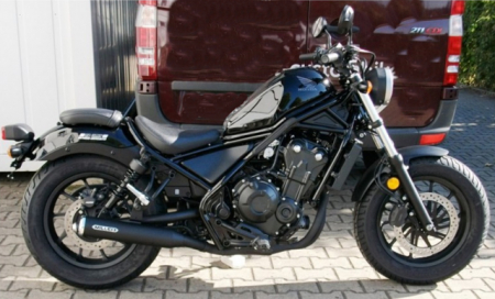 Vorführer: MILLER 2-1 - Custom II - Honda CMX 500 Rebel / SlipOn Auspuff / black / EURO5 / EG-BE