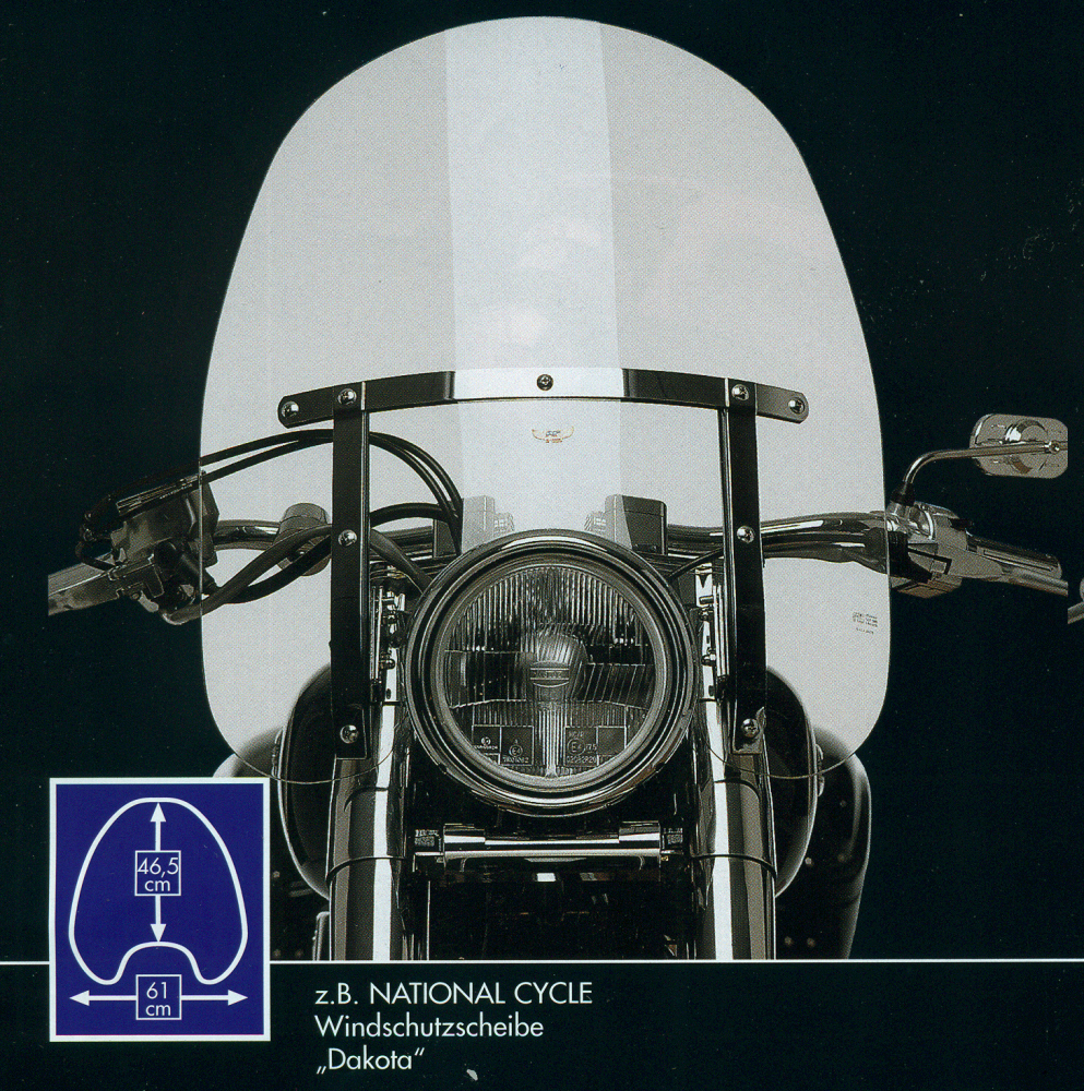 "National Cycle Windshield ""Dakota"" KAWASAKI VN 900 Classic - mit ABE"