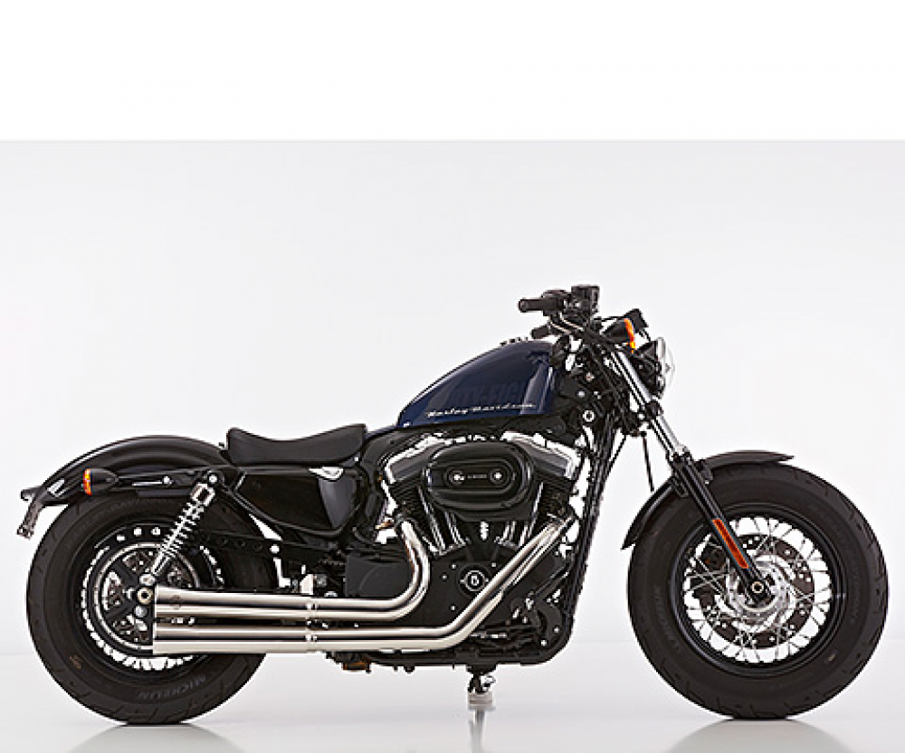 Euro4: FALCON Double Groove / HD Sportster XL 883/1200 /  Komplettanlg. / poliert / ab 2017 / ABE