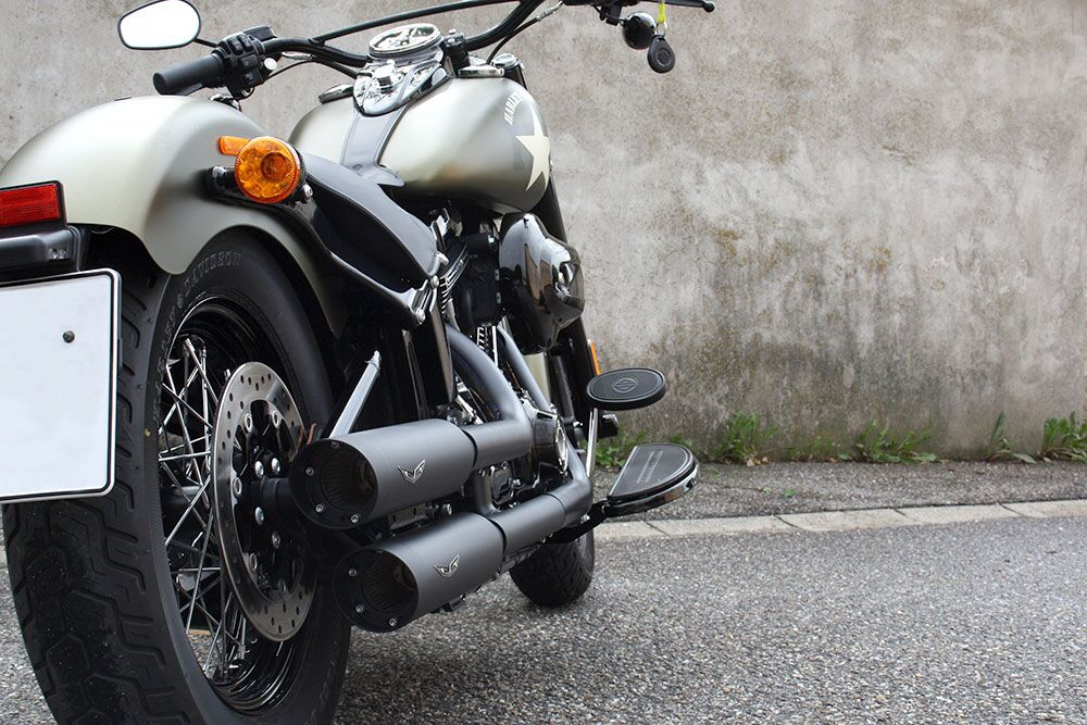 SALE: PENZL V2-Speed Auspuffset elektr. verstellb. / Euro 4 / cera. black / Indian Scout / ab 17 / EG-BE