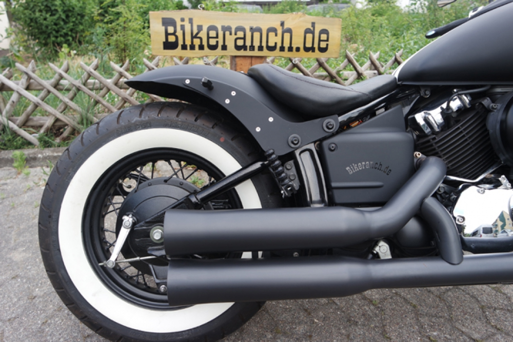 BR-Ceramic-Black - Falcon Double Groove / Komplettanlg. / HONDA VT 750 Shadow / mit KAT / ABE