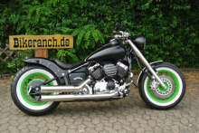 YAMAHA FAT-BLACK+GREEN-BOBBER-UMBAU