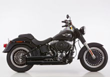 Euro4: FALCON Double Groove / Komplett / schwarz / HD Softail / ab 2017 / ABE