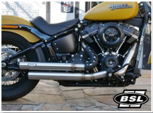 BSL Top Chopp Staggered Outline Auspuff / Headpipes 70mm VA Outline / Softail / Euro 4 / TÜV