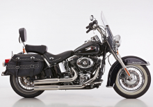Euro4: FALCON Double Groove / Komplettanlg. / poliert / HD SOFTAIL / ab 2017 / ABE