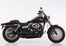 Angebot: Falcon Double Groove Komplettanlg. / KAT / poliert / HD Dyna Fat Bob / ab 2008 / ABE