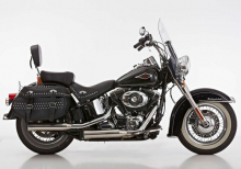 Euro4: FALCON Double Groove / Slip On / poliert / HD Softail / ab 2017 / ABE